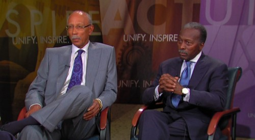 No help at all. Detroit Mayor Dave Bing (L) is too busy struggling to break through the city government's dysfunction to try to help Detroit Public Schools Emergency Financial Manager Roy Roberts deal with the failing district.