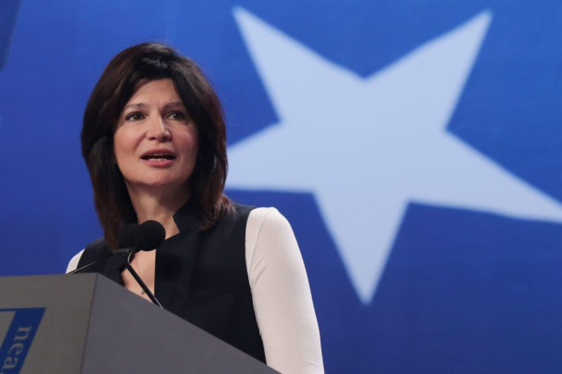 NEA President Lily Eskelsen Garcia delivers her Keynote address at the opening session of the National Education Association 154th Annual Meeting, 95th Representative Assembly at the Walter E. Washington Convention Center in Washington DC. Friday July 4th 2016. Photo by Calvin Knight/ NEA Today